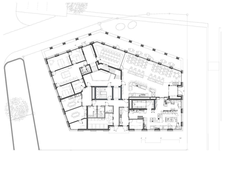 Rez-de-chaussée 5egg Flawil de Brechbuehler Walser Architekten