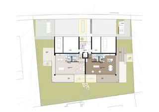 EG_Grundriss 3 MFH Habsburgerblick in Meggen von Antonietty Architekten AG