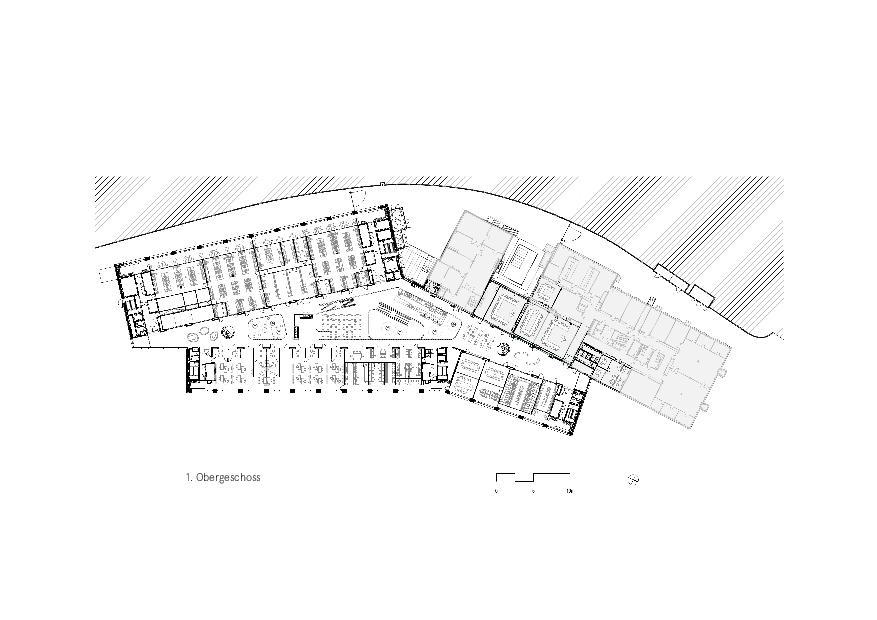 Grundriss 1. OG Givaudan - Zurich Innovation Center von Bauart Architekten und Planer AG