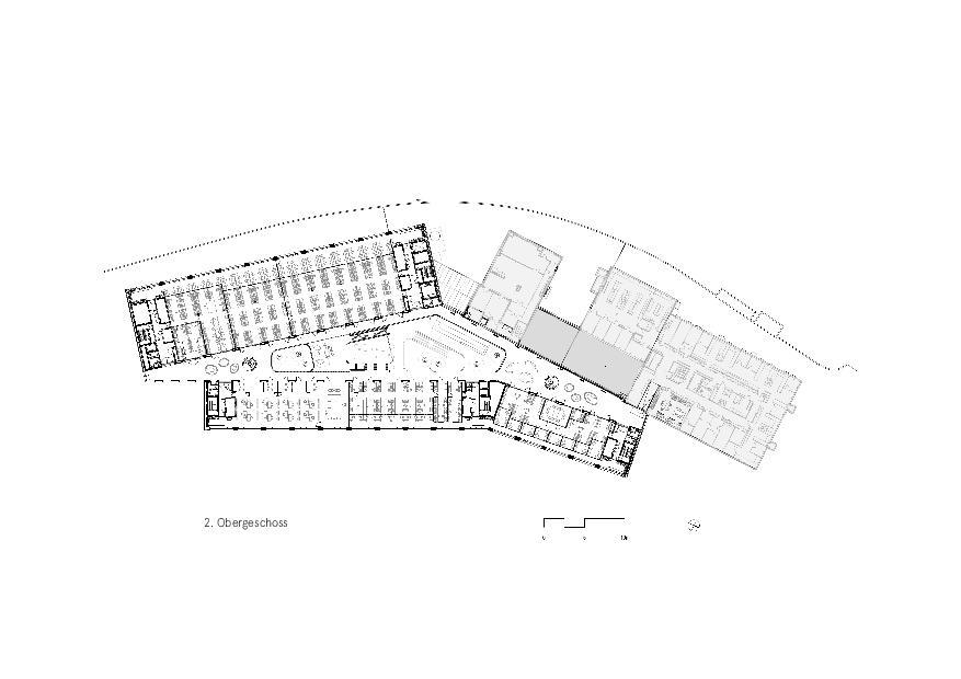 Grundriss 2. OG Givaudan - Zurich Innovation Center von Bauart Architekten und Planer AG