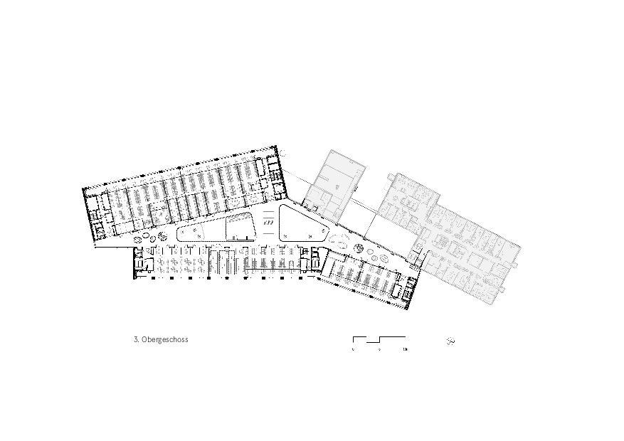 Grundriss 3. OG Givaudan - Zurich Innovation Center von Bauart Architekten und Planer AG