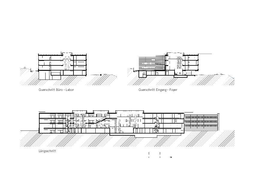 Schnitte Givaudan - Zurich Innovation Center von Bauart Architekten und Planer AG