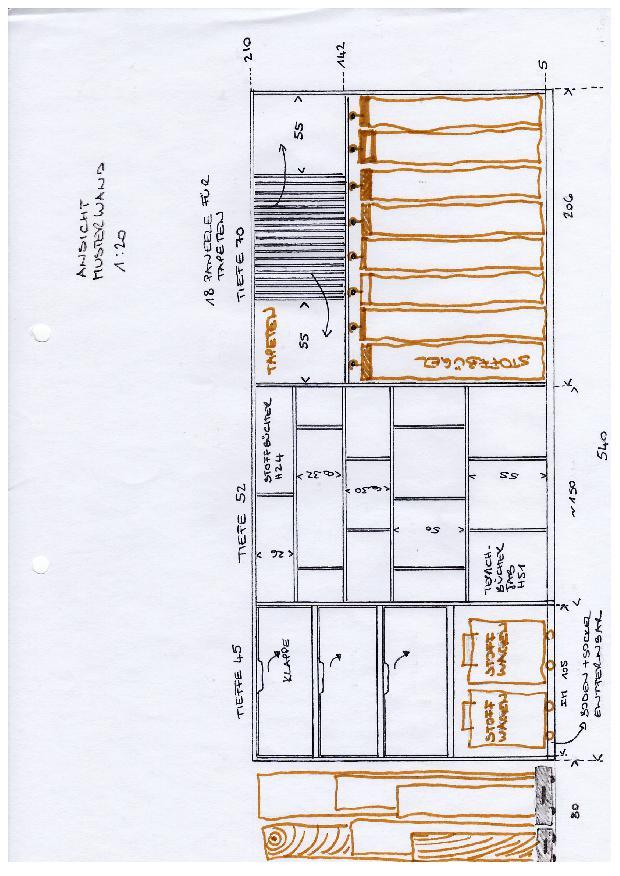 Ansicht Einbauten Musterwand Materialbibliothek Materialbibliothek für den Innenausbau von good interiors gmbh