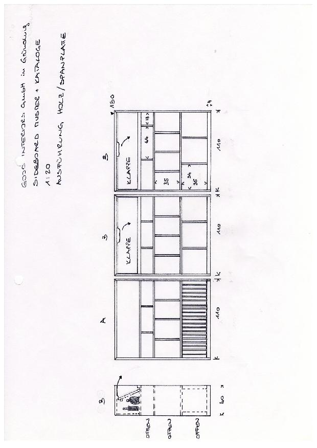 Vue petite bibliothèque d'échantillons de matériaux  Materialbibliothek für den Innenausbau de good interiors gmbh