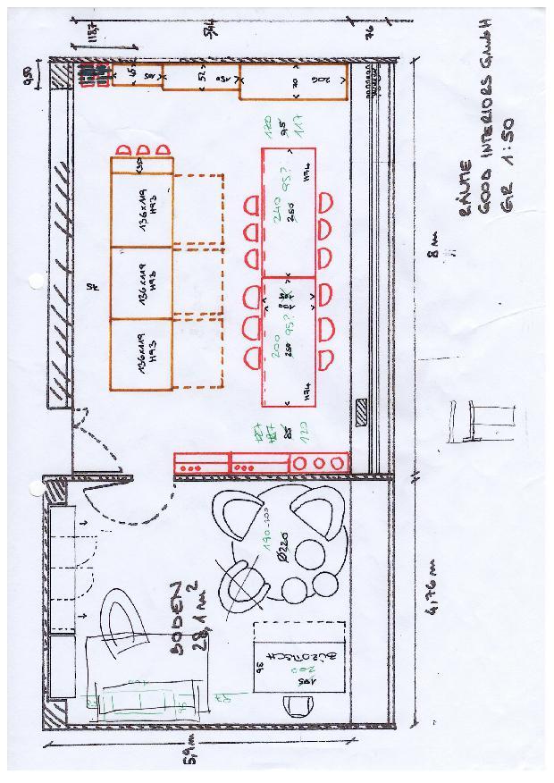 Grundriss Materialbibliothek und Buero good interiors Materialbibliothek für den Innenausbau von good interiors gmbh