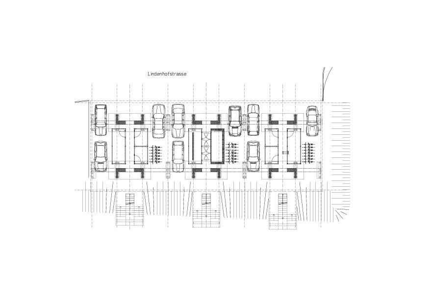 niveau de parking Reihenhaus aus Betonmodulen de moos giuliani herrmann architekten ag