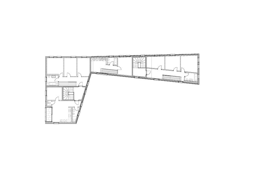 MFH Mühlegasse, Baar - GR Obergeschoss Mehrfamilienhaus Mühlegasse von Röösli Architekten AG