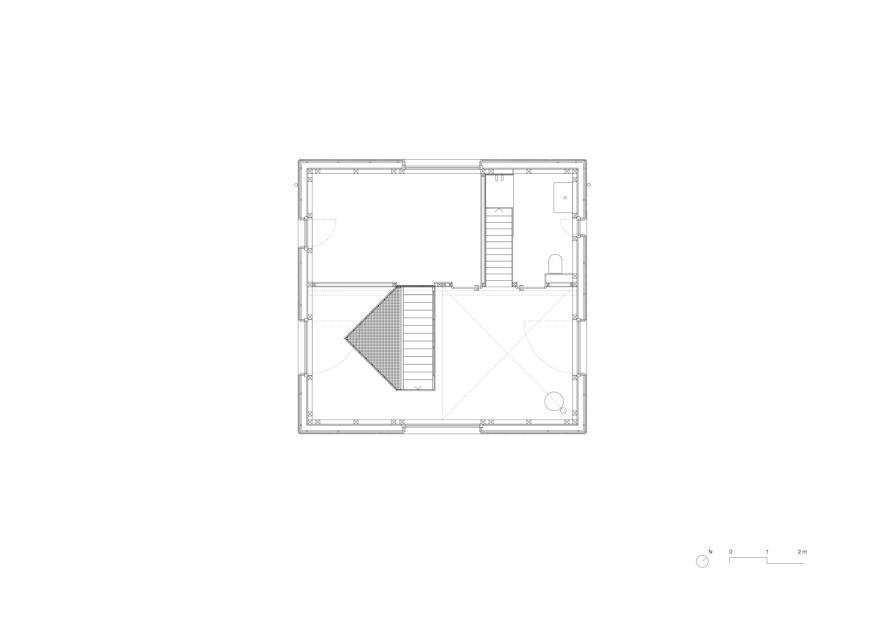 Niveau 1 1:50 KLEINES HAUS de Lukas Lenherr Architektur ETH SIA