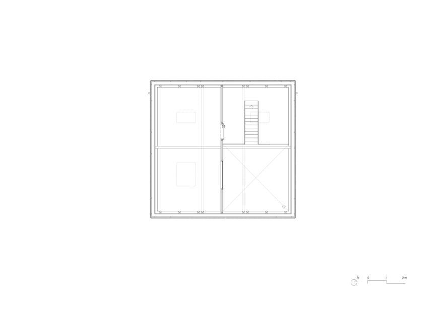 Combles 1:50 KLEINES HAUS de Lukas Lenherr Architektur ETH SIA