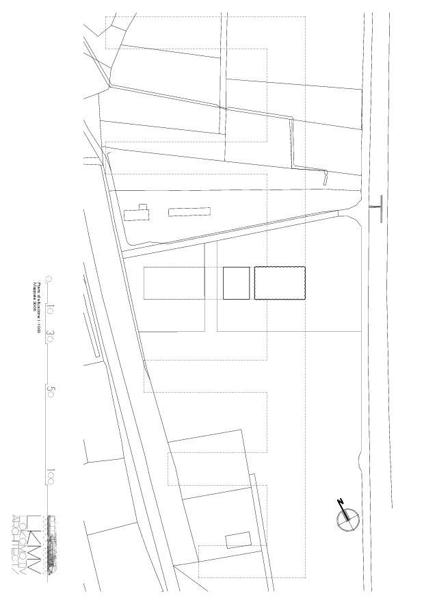 Situationsplan Centro Funerario Bellinzona - CAFUBE SA von Studio d'architettura<br/>