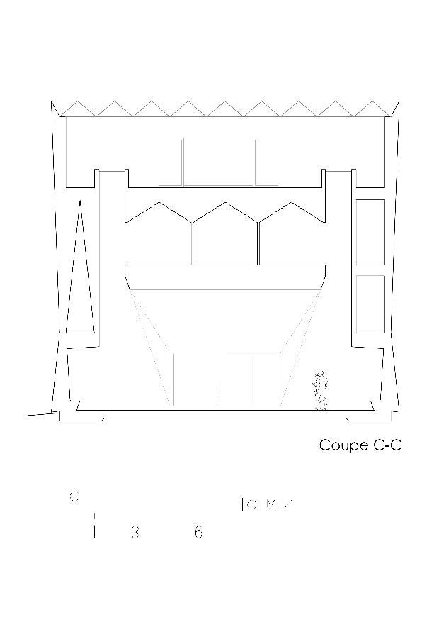 Schnitte Centro Funerario Bellinzona - CAFUBE SA von Studio d'architettura<br/>