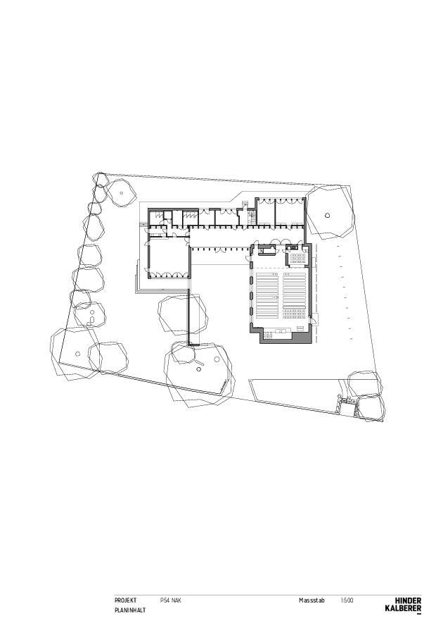 Plan rez-de-chaussée Neuapostolische Kirche Winterthur de Hinder Kalberer Architekten GmbH