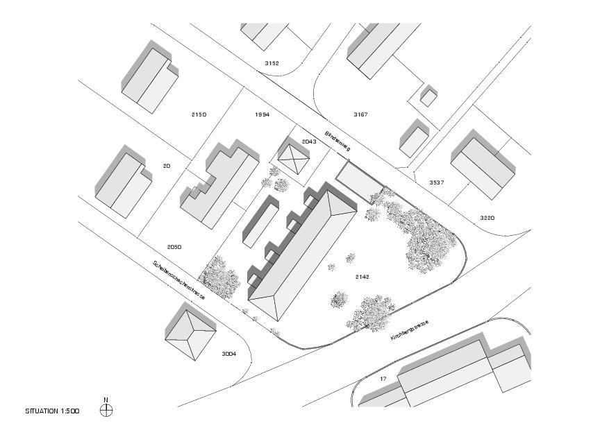 Situation Mehrfamilienhaus Bündtenweg von Andreas Marti & Partner Architekten AG
