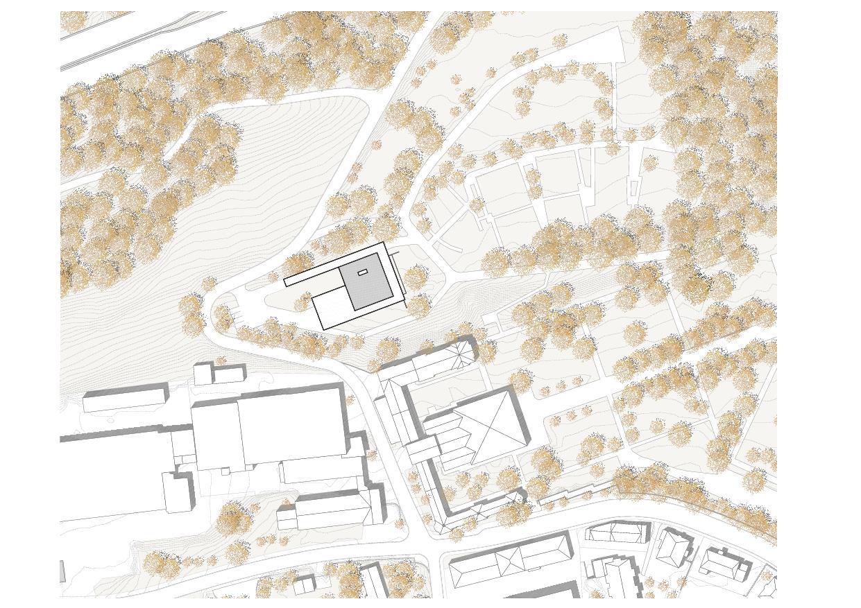 Situation in St.Gallen Krematorium Feldli, St.Gallen von Architekt BSA SIA<br/>