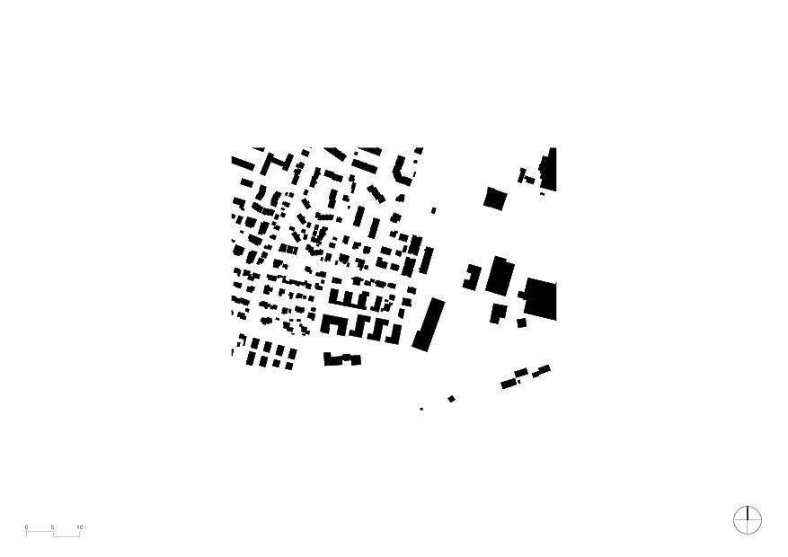 Schwarzplan Wohnheim mit Atelierhaus Stiftung MBF von Schmid Ziörjen Architektenkollektiv