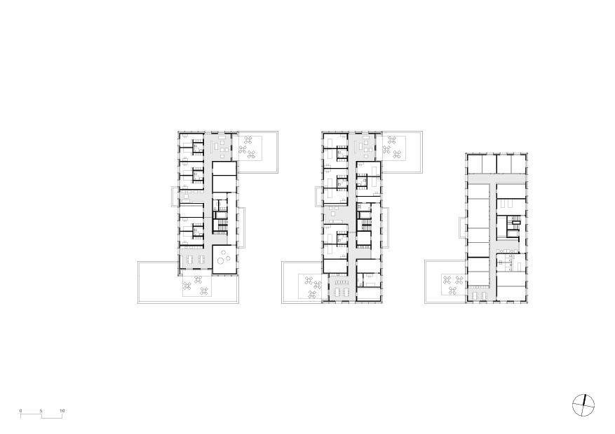 Obergeschoss Wohnheim mit Atelierhaus Stiftung MBF von Schmid Ziörjen Architektenkollektiv