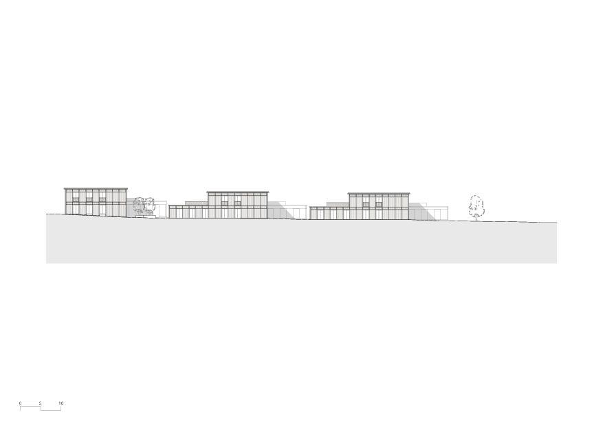 Ansicht Nord Wohnheim mit Atelierhaus Stiftung MBF von Schmid Ziörjen Architektenkollektiv