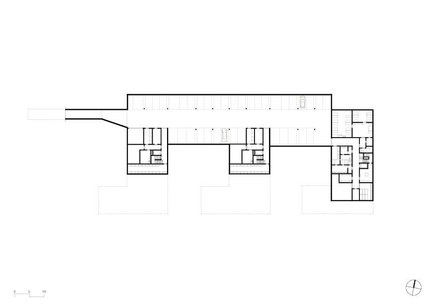 Untergeschoss Wohnheim mit Atelierhaus Stiftung MBF von Schmid Ziörjen Architektenkollektiv