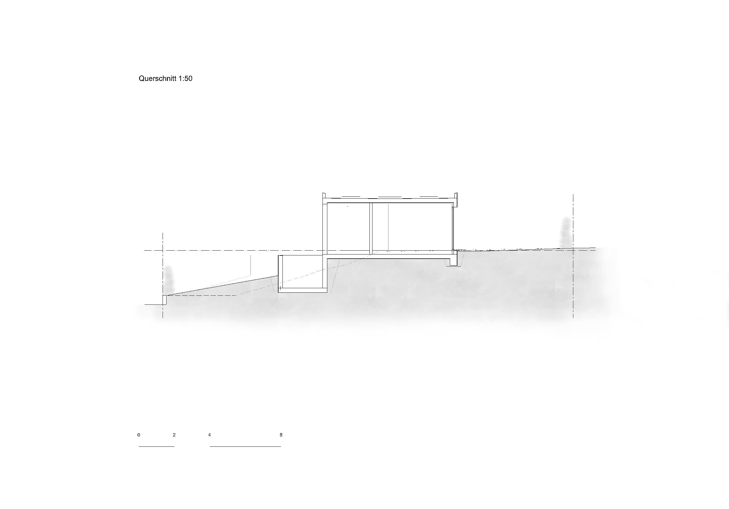 Querschnitt 1:50 Ersatzneubau - Bungalow Mediterrano von Studio Baumann