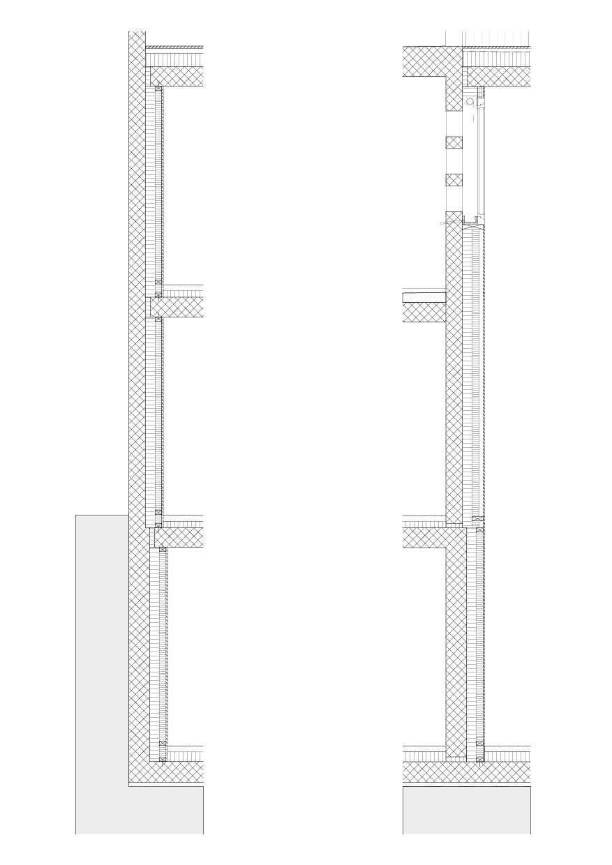 Coupes façades Haus Neuhofweg de architekten eth sia gmbh<br/>