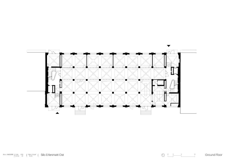 Erdgeschoss Umbau Silo Erlenmatt, Basel von Architekturbüro<br/>