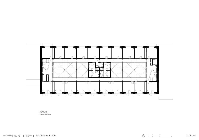 Obergeschoss Umbau Silo Erlenmatt, Basel von Architekturbüro<br/>
