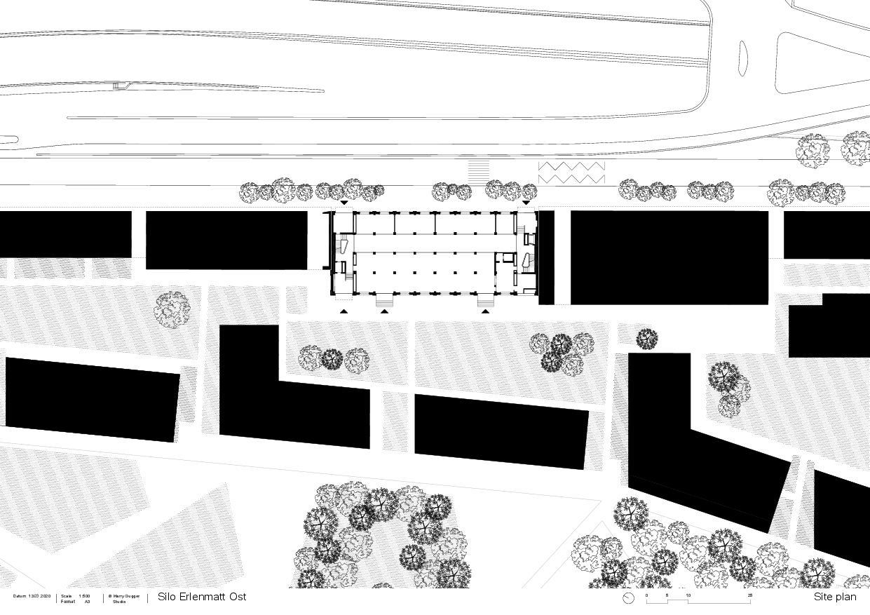 Situation Umbau Silo Erlenmatt, Basel von Architekturbüro<br/>