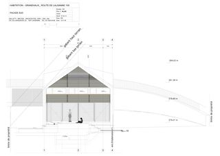 Façade Sud Habitation pour une famille von Galletti & Matter architectes