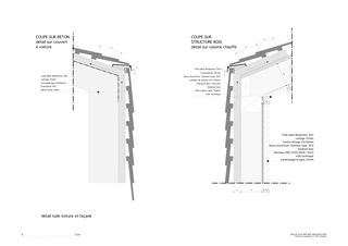 Détail - toiture Habitation pour une famille von Galletti & Matter architectes