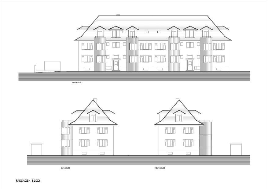 Fassaden Mehrfamilienhaus Bündtenweg von Andreas Marti & Partner Architekten AG