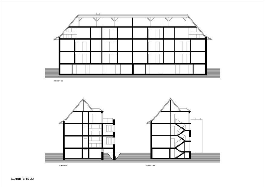 Schnitte Mehrfamilienhaus Bündtenweg von Andreas Marti & Partner Architekten AG