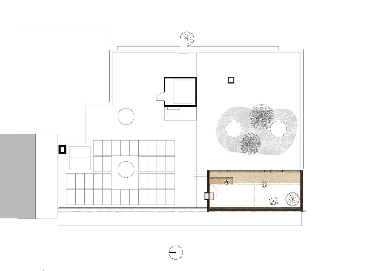 Plan 1er étage Wohnhaus mit Atelier de lilitt bollinger studio gmbH