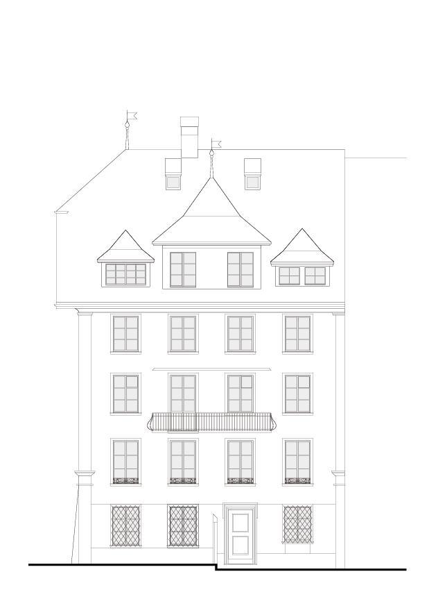Fassade Altstadthaus im Zöpfli de Architekturbüro Iwan Bühler GmbH