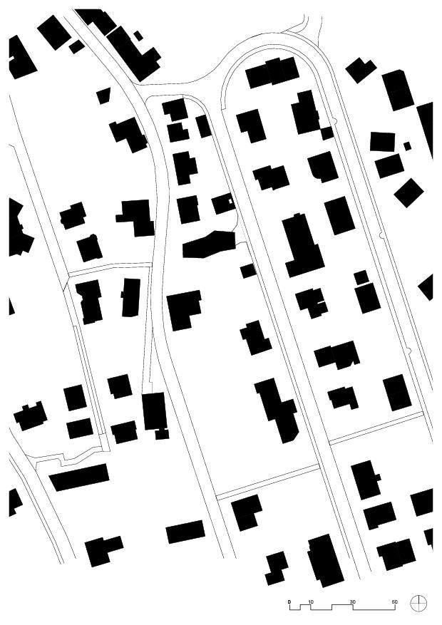 Schwarzplan Haus Obergass von uli mayer urs hüssy architekten ETH SIA AG