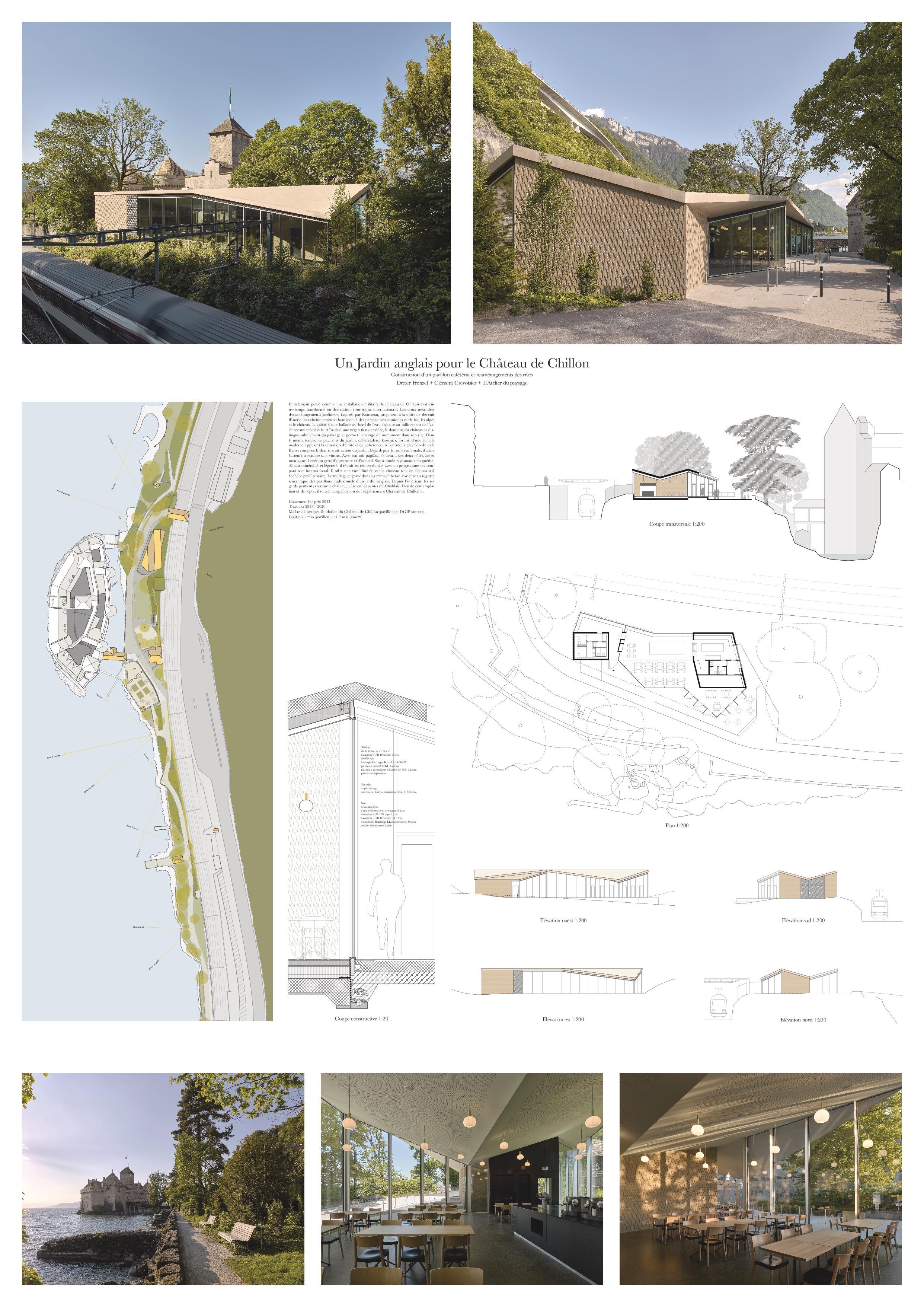 Planche A0 Un Jardin anglais pour le Château de Chillon de Dreier Frenzel