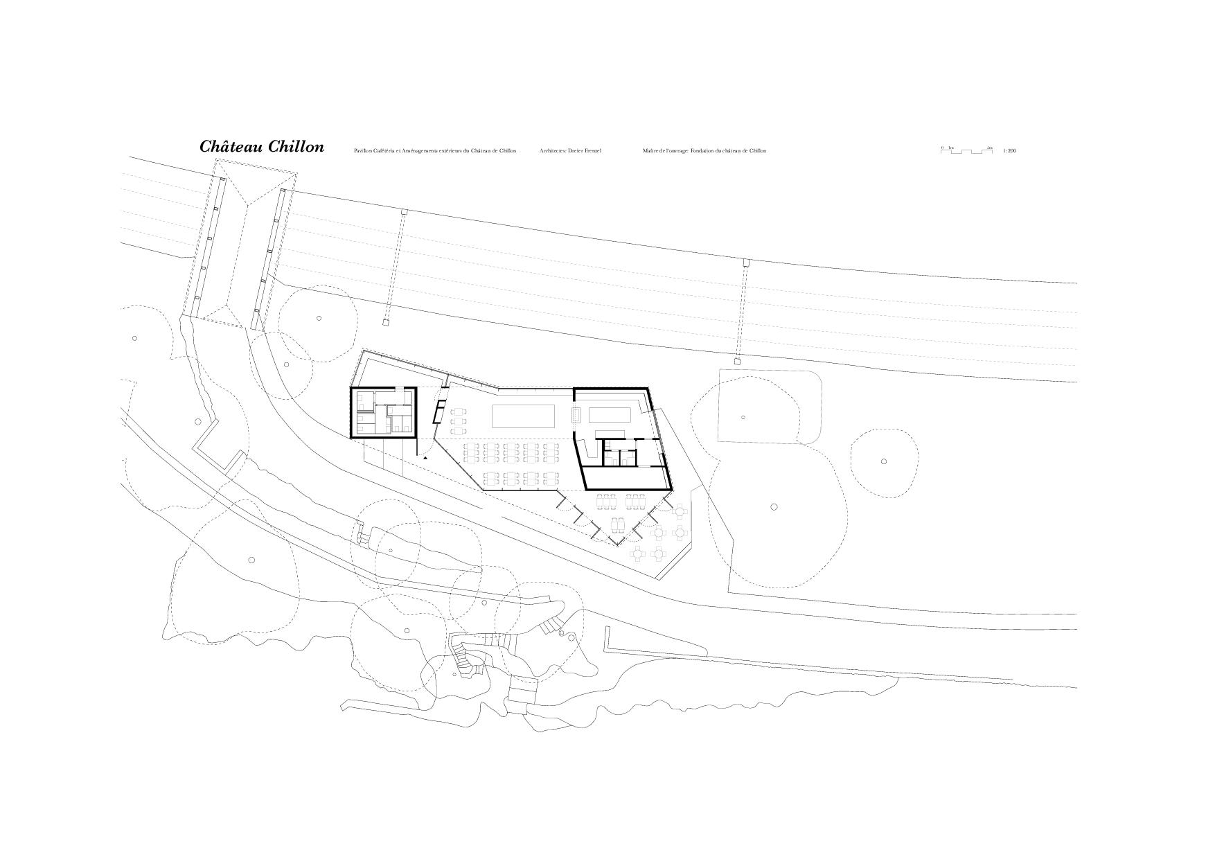 Plan RDC Un Jardin anglais pour le Château de Chillon de Dreier Frenzel