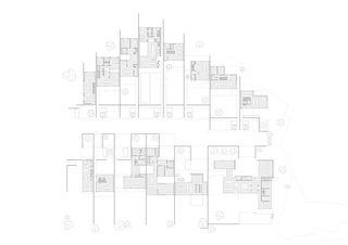 plan rez-de-chaussée Siedlung Fegetzhof, Solothurn von guido kummer + partner architekten