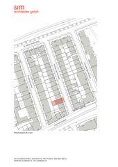 Situationsplan M1:500 Aufstockung und Erneuerung Mehrfamilienhaus Homburgerstrasse, Basel von sim Architekten GmbH