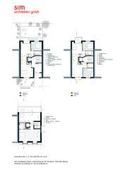 Grundriss EG, 1- 3 OG und Dachgeschoss M1:200 Aufstockung und Erneuerung Mehrfamilienhaus Homburgerstrasse, Basel von sim Architekten GmbH