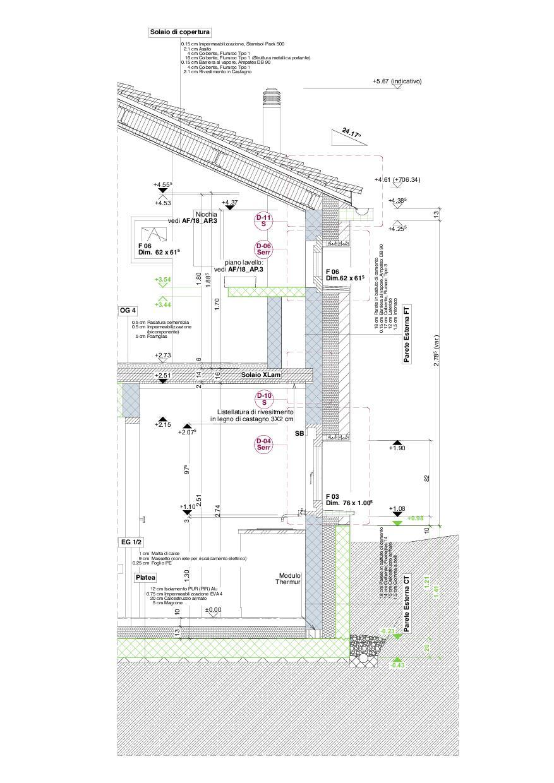 Detailplan Studio Cascina Garbald (scientist in residence) von Architetti SIA<br/>
