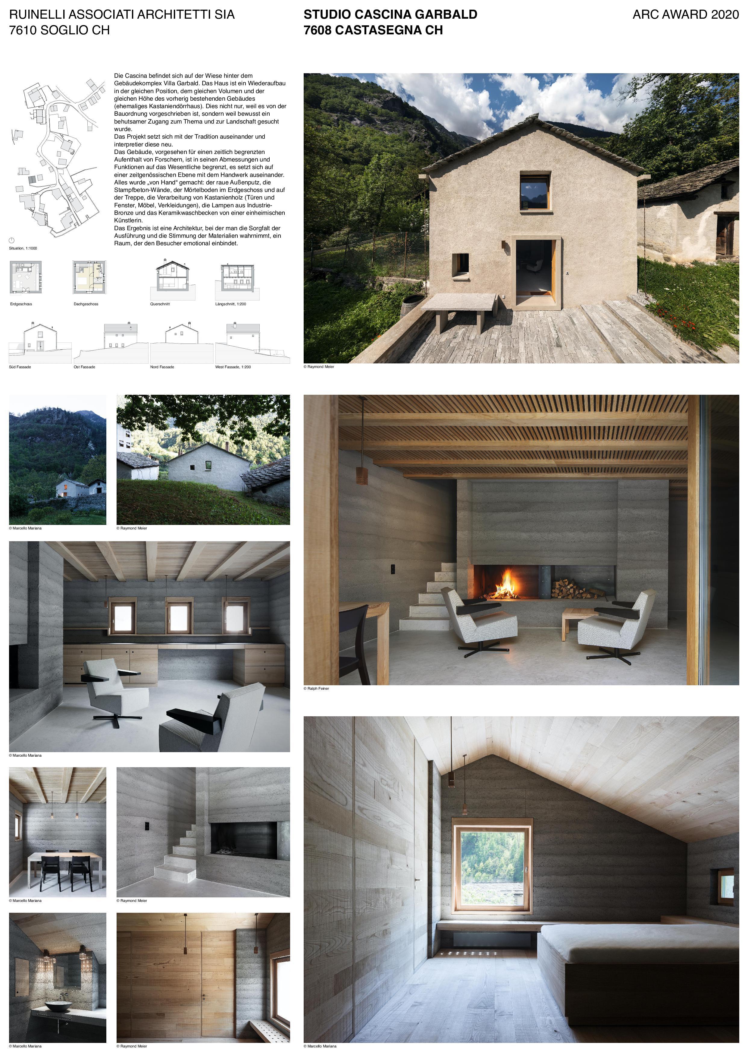 Plakat Studio Cascina Garbald (scientist in residence) von Architetti SIA<br/>