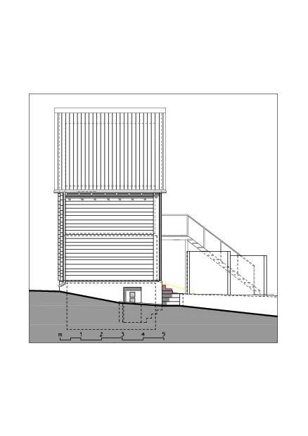 Façade nord-est  Ausbau Atelier Koller de Dipl. Architekt ETH/SIA<br/>