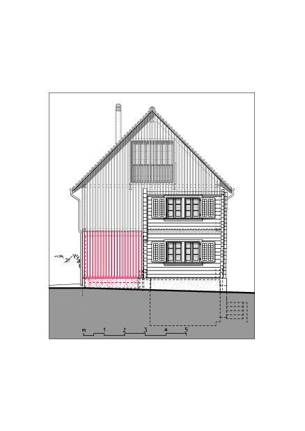 Façade sud-est  Ausbau Atelier Koller de Dipl. Architekt ETH/SIA<br/>