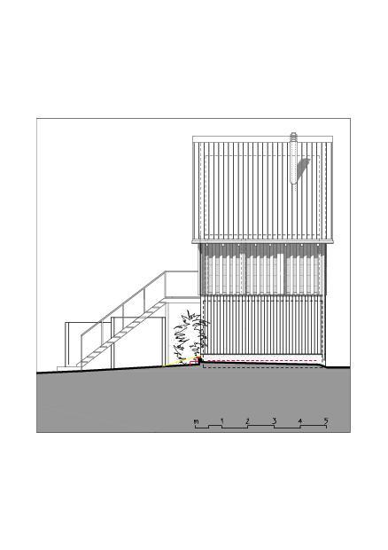 Façade sud-ouest  Ausbau Atelier Koller de Dipl. Architekt ETH/SIA<br/>