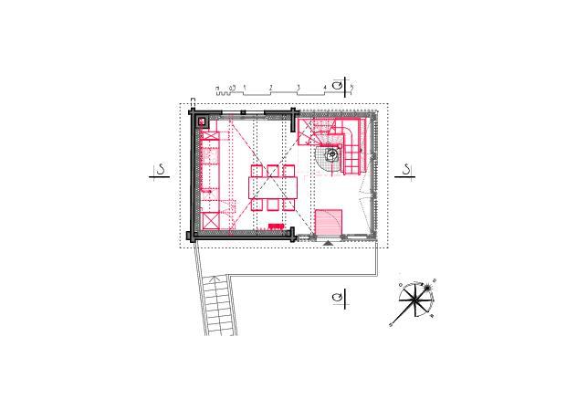Plan d'étage supérieur Ausbau Atelier Koller de Dipl. Architekt ETH/SIA<br/>