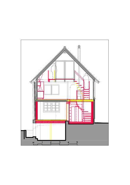 Coup S-S Ausbau Atelier Koller de Dipl. Architekt ETH/SIA<br/>