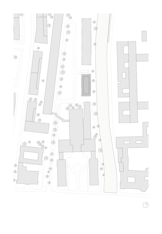 Situation, Mst 1:1000 Bürogebäude am Hamburger Bahnhof, Berlin von Architekturbüro<br/>