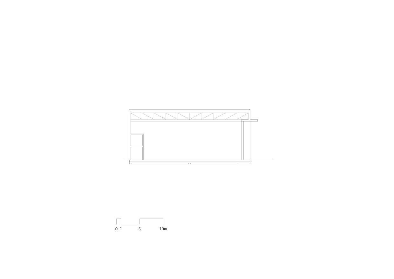 Querschnitt Flugzeughangar Bern-Belp von Marazzi + Paul Architekten AG