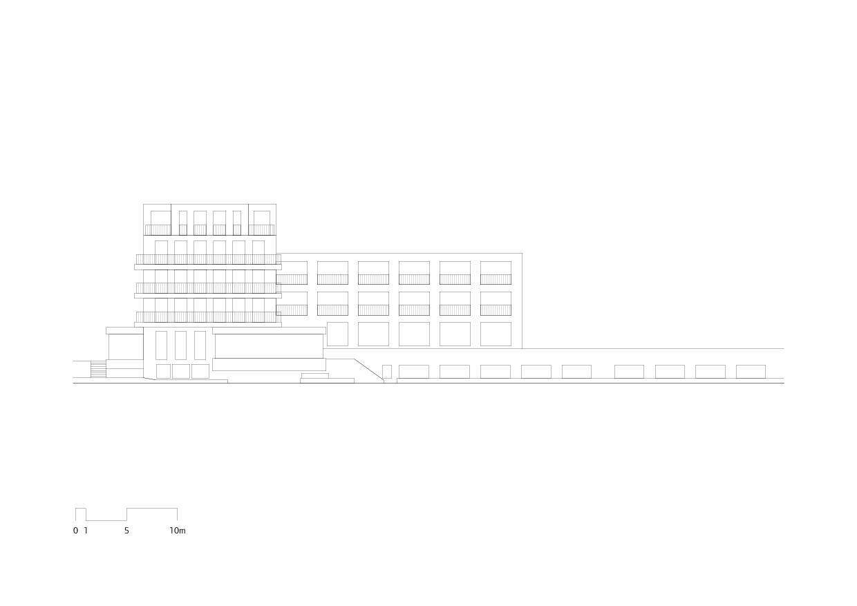 Ansicht vom See Hotel Alex Lake Zürich von Marazzi + Paul Architekten AG