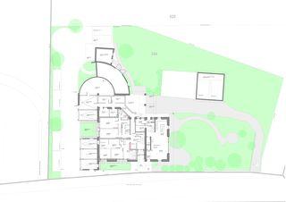 Erschliessung Umgebung und Grundriss EG Ancien rural transformé von TBA architectes